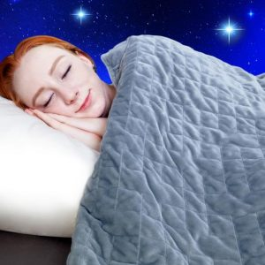 Girl Using Dr. Hart's Weighted Blanket