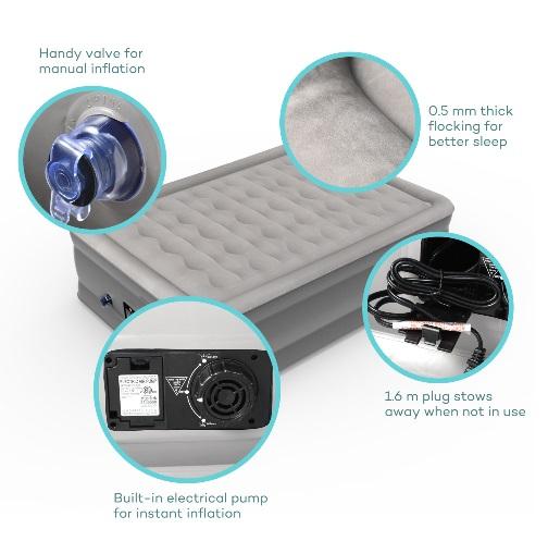 Sable Air Mattress Features