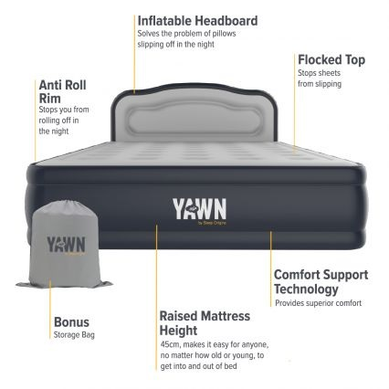 YAWN Air Bed Features